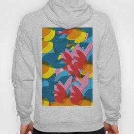 Flowers of Love Summer Pattern Abstract Art Hoody