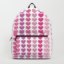 Shades of Pink and Purple Hearts Repeated Pattern 111 Backpack
