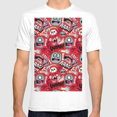 AGGGHH MEDIUM White Mens Fitted Tee