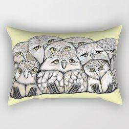 Baby Owls Pile Rectangular Pillow