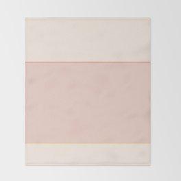 Subtle Spring Color Block Throw Blanket