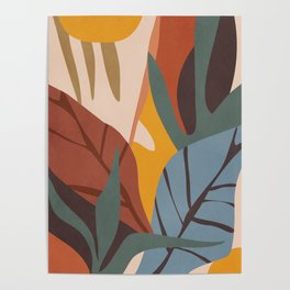 Abstract Art Jungle Poster