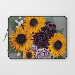 Sunflowers Roses Paper Quilled Flowers Laptop Sleeve