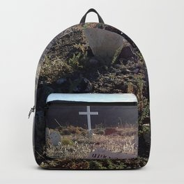 Unknown man graveyard Backpack