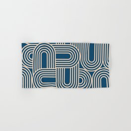 Abstraction_WAVE_GRAPHIC_VISUAL_ART_Minimalism_001 Hand & Bath Towel