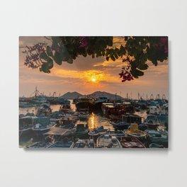 Sunset, Cheung Chau Island, Hong Kong Metal Print