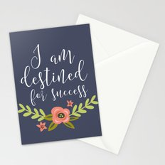 I AM DESTINED FOR SUCCESS Stationery Cards