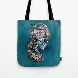 Floral Skull RP Tote Bag