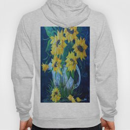 Sunflowers in a Country Pot Hoody