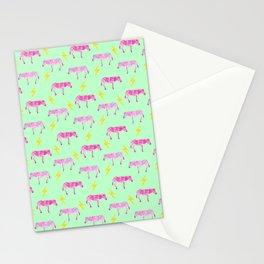 Lightning Zebras Stationery Cards