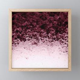 Burgundy CrYSTALS Ombre Gradient Framed Mini Art Print