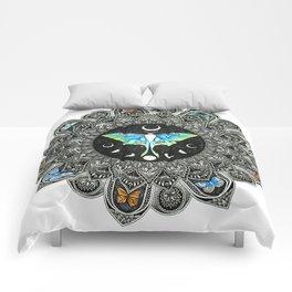 Lunar Moth Mandala Comforters