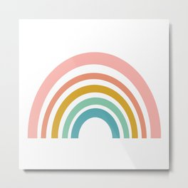 Simple Happy Rainbow Art Metal Print