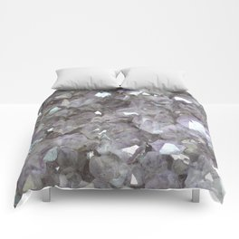 Sparkling Clear Light Purple Amethyst Crystal Stone Comforters