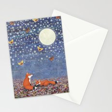 moonlit foxes Stationery Cards