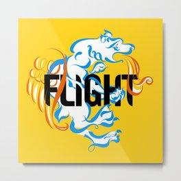 Flight (typography) Metal Print