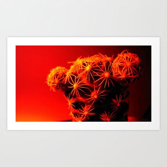 red cactus. Art Print
