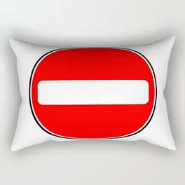 No Entry Sign Rectangular Pillow