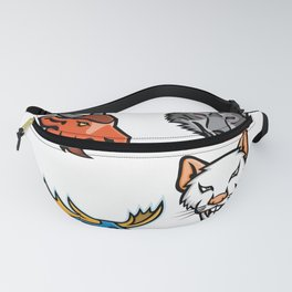 Wildlife Head Mascot Collection Fanny Pack