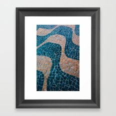 Color at the ground Framed Art Print