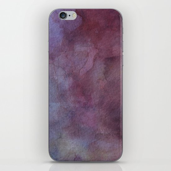 Purple Watercolor Nebula Galaxy Sky iPhone & iPod Skin