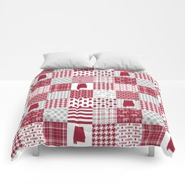 Alabama bama crimson tide cheater quilt state college university pattern footabll Comforters