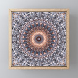 Warm center of ice crystal mandala Framed Mini Art Print