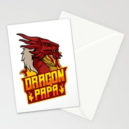 Awesome Dragon Papa Fearsome Dragon Fantasy Dad Stationery Cards