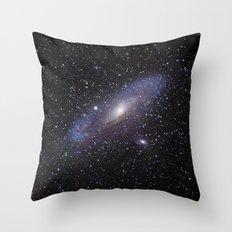 Galaxy Andromeda Throw Pillow