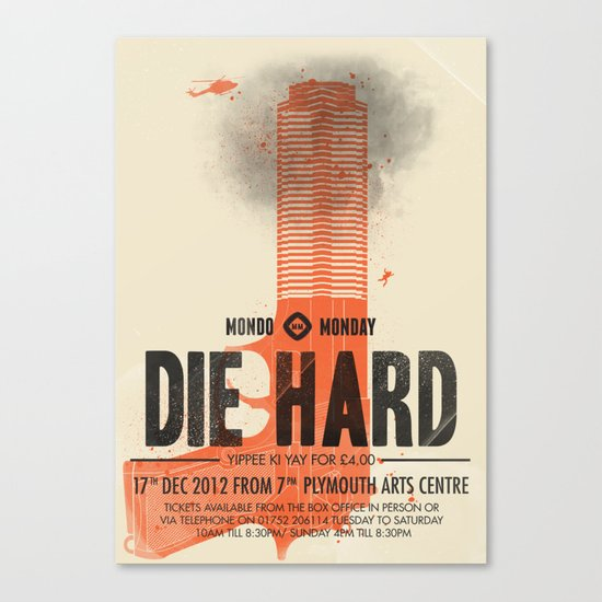 Die Hard (Full poster variant) Canvas Print