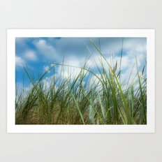 Dreaming in the grass pattern Art Print