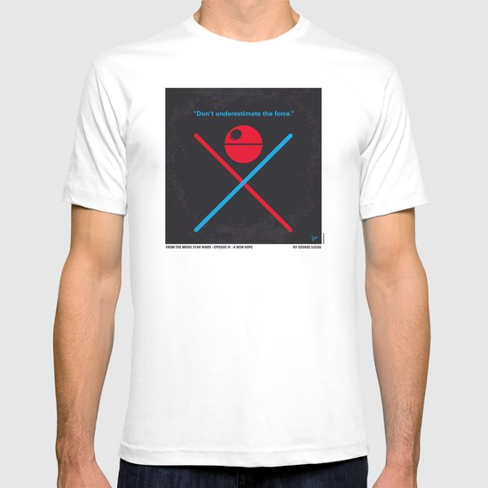 No154 My STAR Episode IV A New Hope WARS minimal movie poster T-shirt