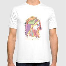 Big Hair day MEDIUM Mens Fitted Tee White