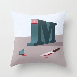 Sans-Serif Throw Pillow