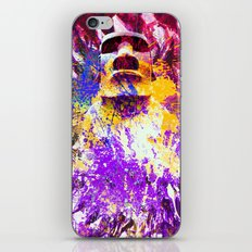 moai in Purple iPhone & iPod Skin
