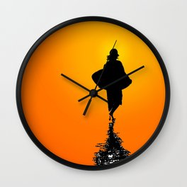 Sunset Skim Wall Clock