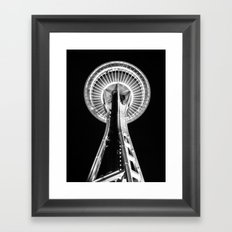 Seattle Space Needle B&W Framed Art Print