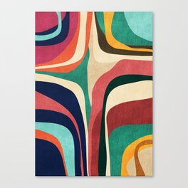 Impossible contour map Canvas Print