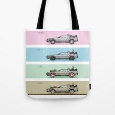 Back to the Future - Delorean x 4 Tote Bag