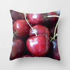 The cherry on top Throw Pillow