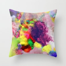 Colorful Smoke And Mirrors Throw Pillow