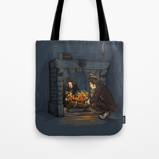 The Witch in the Fireplace Tote Bag