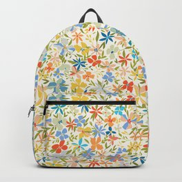 Colorful Retro Floral Backpack