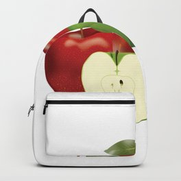Apple with heart and a leaf in style Backpack