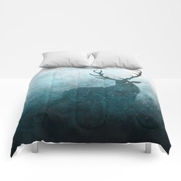 Space Stag Silhouette Comforters