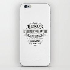 The Fifth Commandment iPhone & iPod Skin