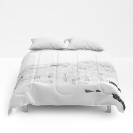 Winter Forest (Black and White) Comforters