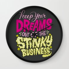 Stinky Business Wall Clock