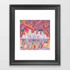 pittsburgh city skyline Framed Art Print