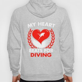 My Heart Beats For Diving Hoody